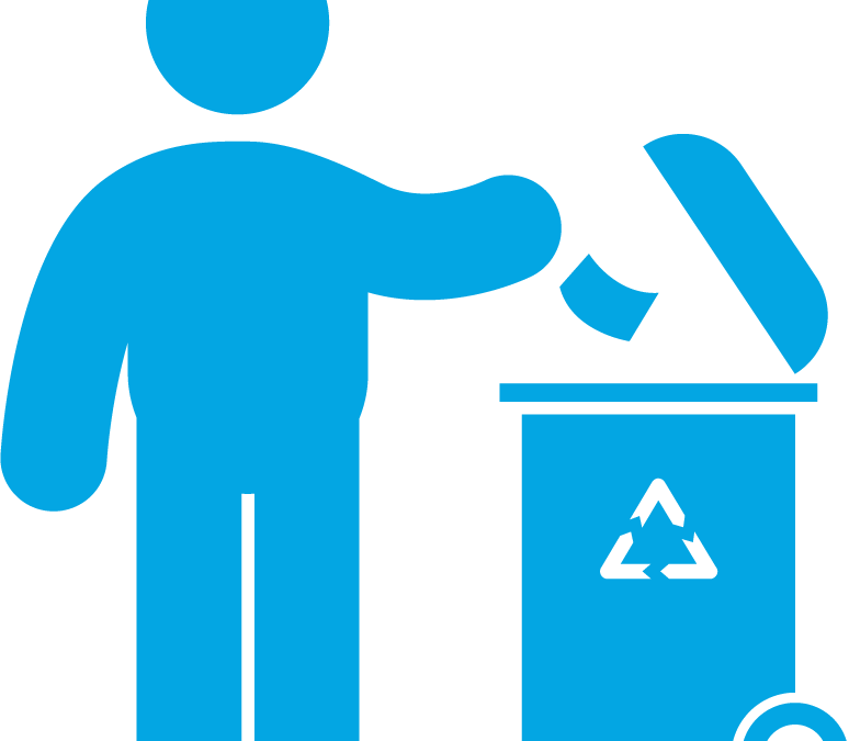 Emptying bins, rubbish recycling and disposal